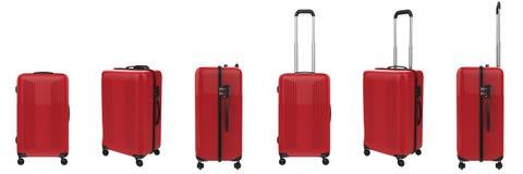 Hard case luggage isolated on white Royalty Free Stock Photos