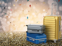 Hard case luggages Royalty Free Stock Photography