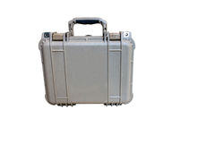 Hard Case Plastic Protect Water Resistant Equipment, isolated on Stock Photo