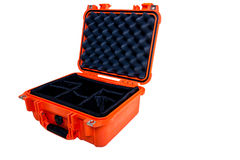 Hard Case Plastic Protect Water Resistant Equipment, isolated on Royalty Free Stock Photography