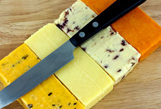 Hard cheeses Stock Photo