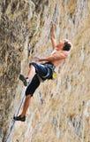 Hard climb in Crimea Royalty Free Stock Image