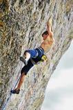 Hard climb man in Ukraine Stock Images