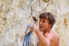 Hard climb man Stock Photography