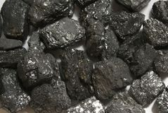 Hard coal anthracite Royalty Free Stock Images