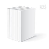 Hard Cover Book Template. 3D Hard cover book design template. Vector detailed illustration stock illustration