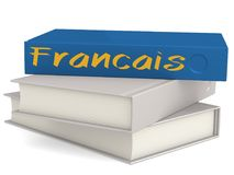 Hard cover books with Francais word royalty free illustration