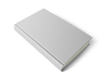 Hard cover white book Royalty Free Stock Images