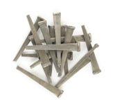 Hard cut flooring nails Royalty Free Stock Photo