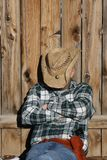 Hard Day's Work. Tired cowboy rests after a hard day's work royalty free stock image