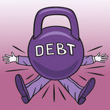Hard debt. Stock Photography