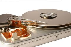 Hard disc. On white background Royalty Free Stock Photo