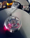 Hard disc. Opened hard disc Royalty Free Stock Images