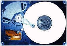 Hard disc. Opened hard disc stock image