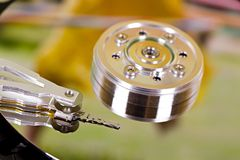 Hard disc closeup Stock Photos