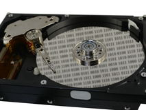 Hard disc with data Stock Images