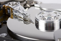 Hard disc drive. Inside details Stock Image