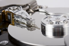 Hard disc drive. Inside details Stock Photo