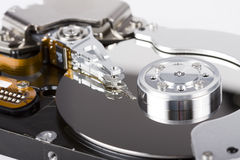 Hard disc drive. Inside details Royalty Free Stock Image