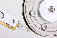 Hard disc drive closeup Royalty Free Stock Photos