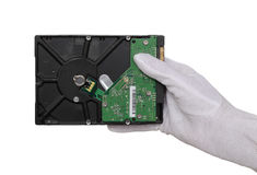 Hard disc in hand Royalty Free Stock Images
