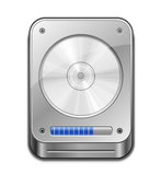 Hard Disc Icon. HDD Icon. Vector illustration of Hard Disk Drive Royalty Free Stock Images