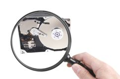 Hard disc investigation Royalty Free Stock Image