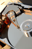Hard disc opened Stock Image
