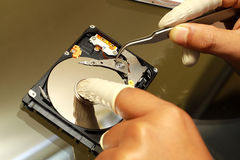 Hard Disc Recovery. By expert Royalty Free Stock Image