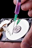 Hard disc repairing Royalty Free Stock Photography
