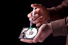 Hard disc repairing Royalty Free Stock Photo