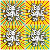 Hard Discount Big Sale Stock Image
