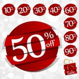 Hard Discount Sale Badges Royalty Free Stock Photography
