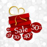 Hard Discount Sale Badges Stock Photography