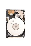 Hard disk. On a white background Stock Image