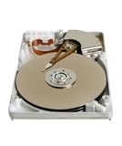 Hard disk. Isolated on the white background Royalty Free Stock Images