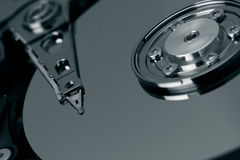 Hard Disk. Close up view of a computer hard disk Stock Photography