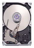 Hard disk. Opened hard disk drive Royalty Free Stock Photo