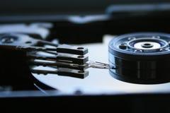Hard Disk 2. Actuator head of a hard drive stock photo