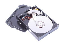 Hard disk. On white Royalty Free Stock Photos