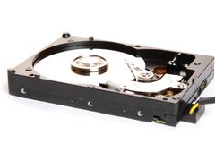 Hard disk. And plate rotation Stock Image