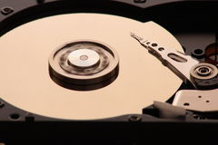 Hard disk. And plate rotation Stock Photos