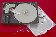 Hard Disk. THESSALONIKI, GREECE - AUG 23: Computer hard disk with clipping path on August 23, 2012 in Thessaloniki,Greece Royalty Free Stock Photography