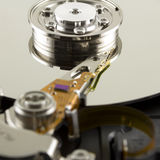 Hard disk from within. Close up Stock Photo