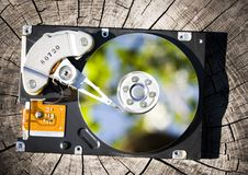 Hard disk. Is the brain of computer Stock Photos
