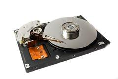 Hard disk. Open hard disk drive. Macro Royalty Free Stock Image