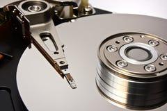 Hard disk. Open hard disk drive. Macro Stock Photos