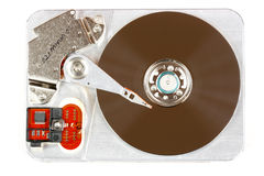 Hard disk. Open hard disk drive - data storage device, isolated on white Royalty Free Stock Image