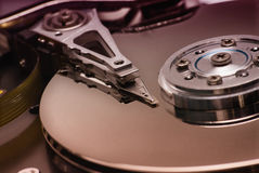 Hard disk. Detail. Limited DOF Stock Photos
