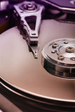 Hard disk. Detail. Limited DOF Royalty Free Stock Image